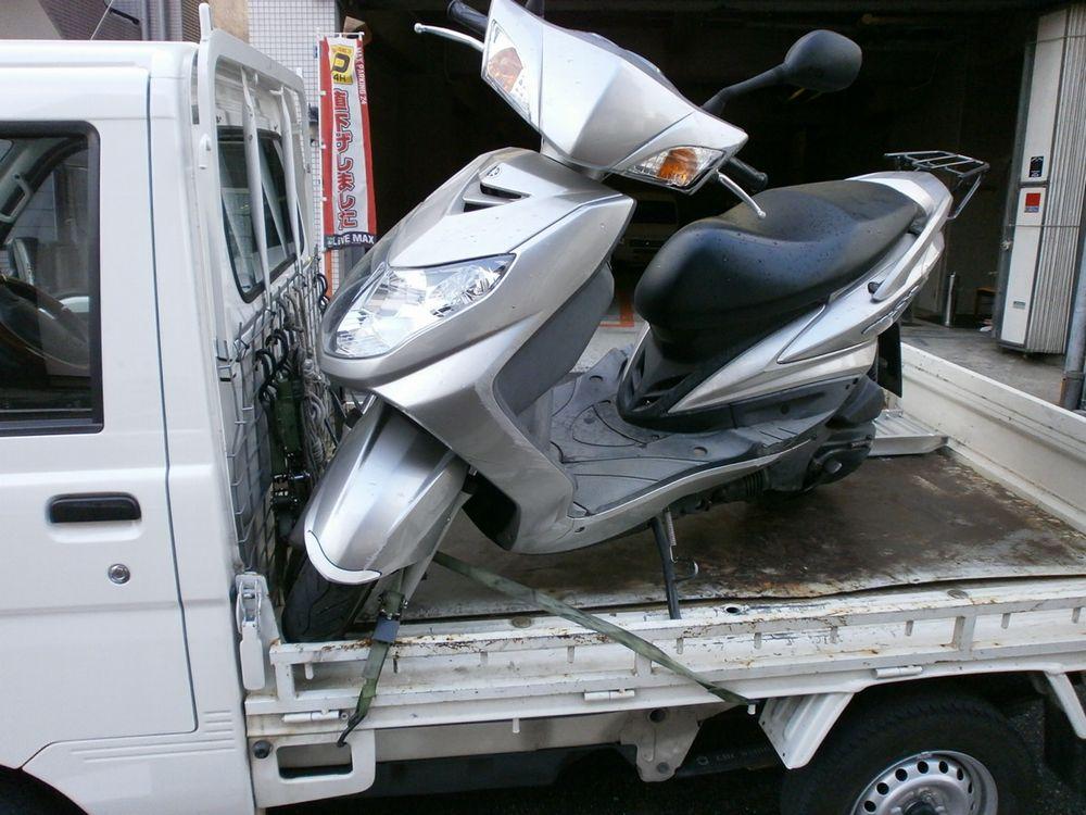 自宅にバイクの配送も可能