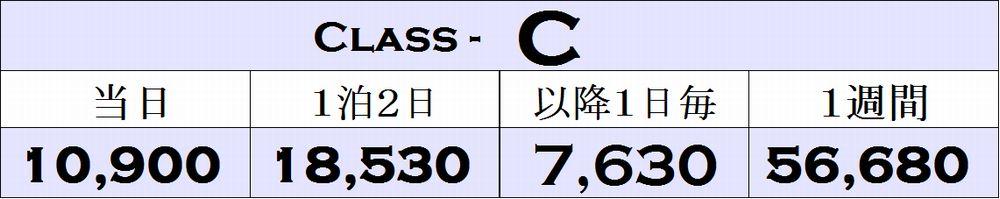 Cクラスの料金表