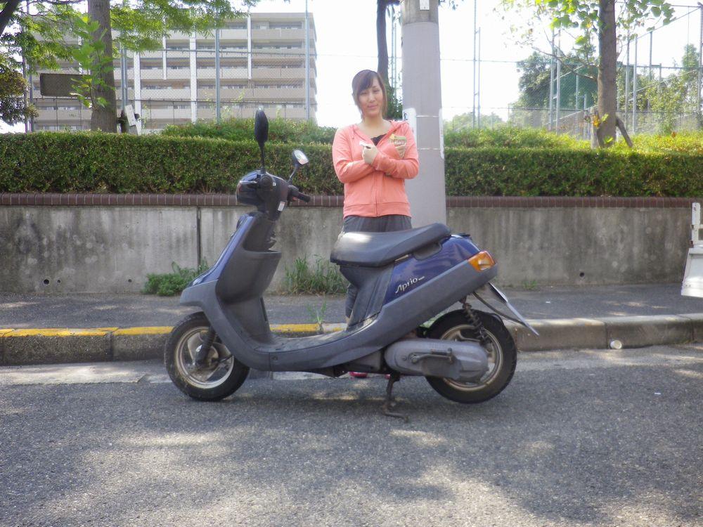 兵庫県西宮市でヤマハアプリオお引取したお客様の画像