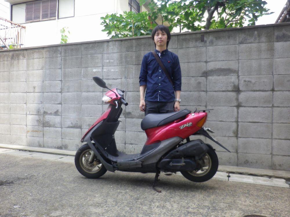 富田林市でホンダライブディオお引取したお客様の画像