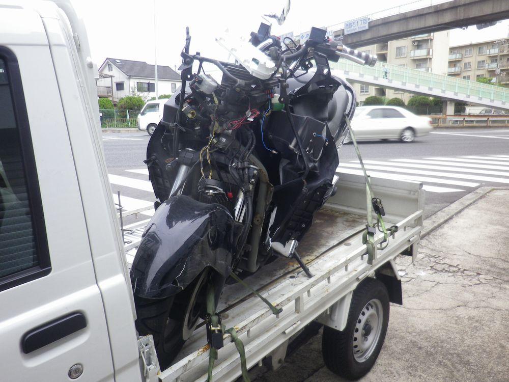 神戸市北区でスズキスカイウエーブ250事故車の画像