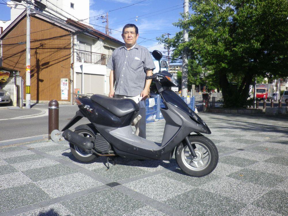 大阪市淀川区で引取りしたホンダディオの画像