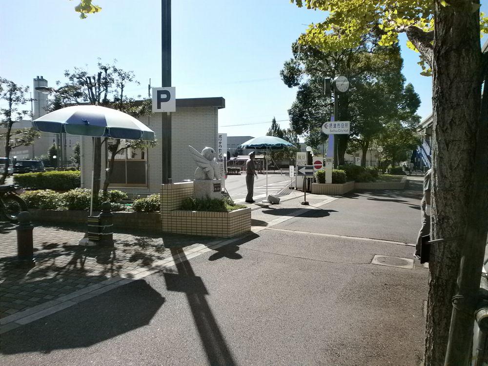 摂津市役所駐車場の画像