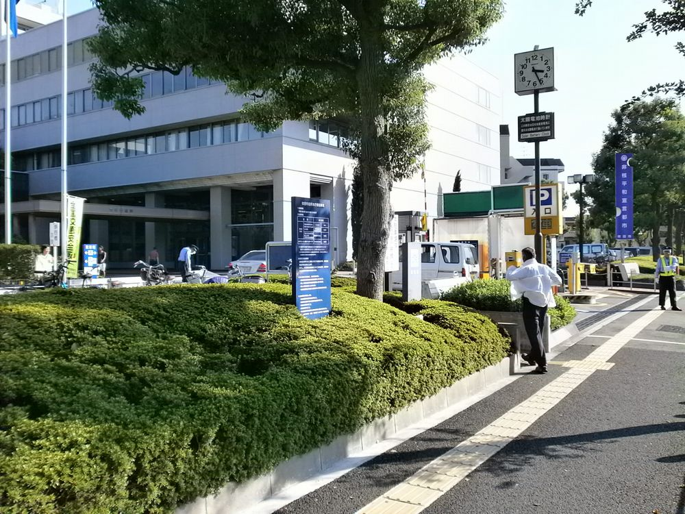 吹田市役所駐車場の画像
