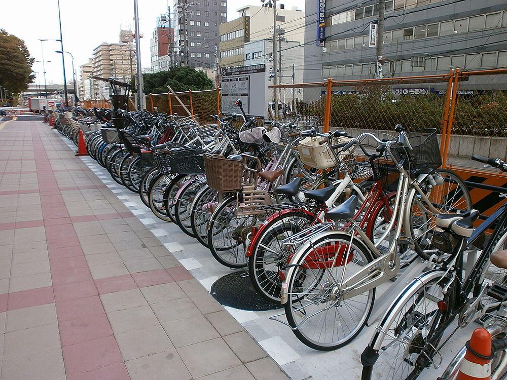 あべの市税事務所駐輪場の画像