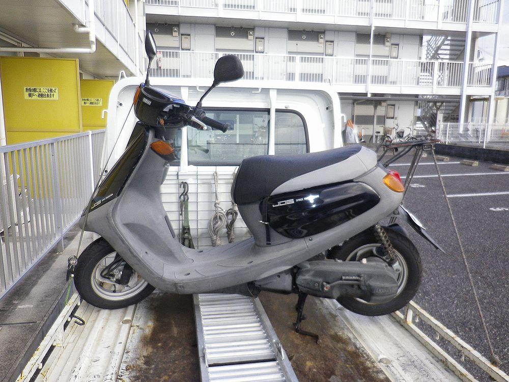 滋賀県草津市で引取りしたヤマハジョグCの画像