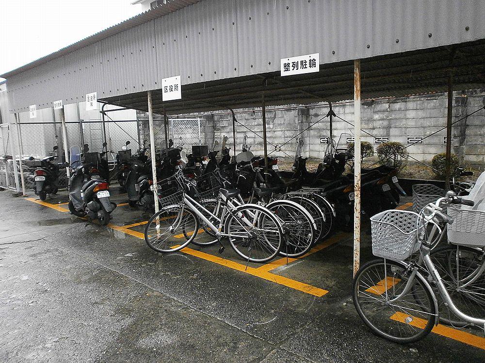 京都北区役所駐輪場