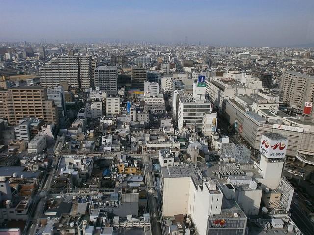 堺市役所高層階21階展望台