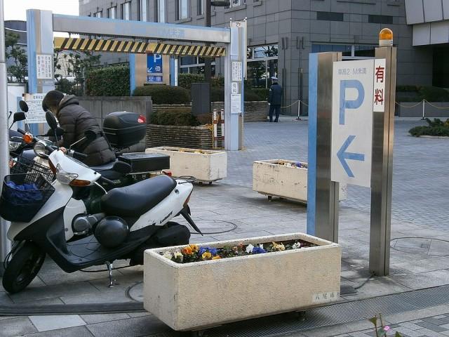 八尾市役所バイク置き場