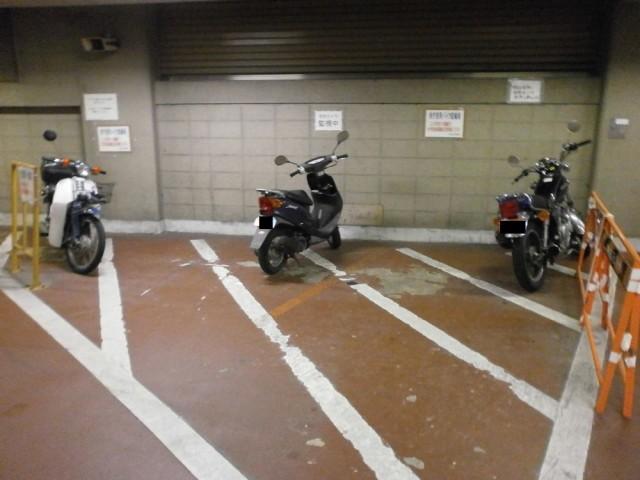 中京区役所バイク置き場