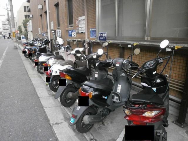 下京区役所バイク置き場