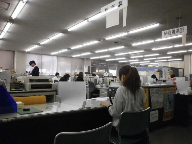 栗東市役所 1F 税務課窓口