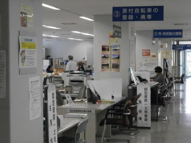 堺北区役所 2階 北市税事務所 ③原付バイク廃車・登録の窓口