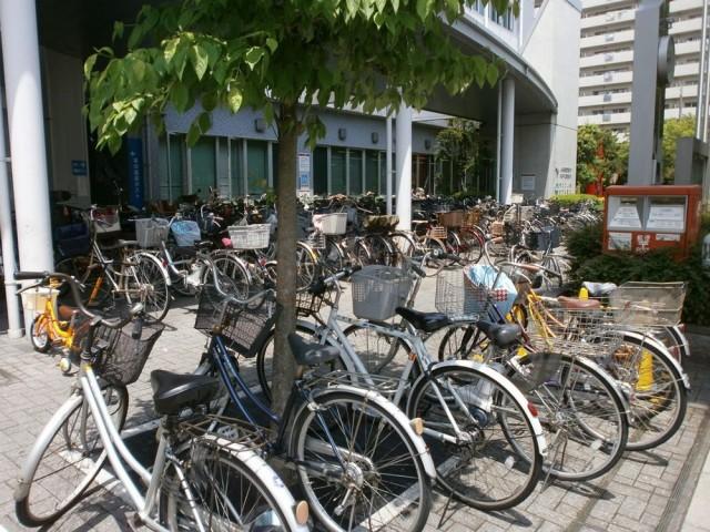 堺市北区役所自転車置き場
