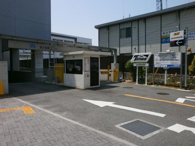 堺市北区役所駐車場進入路