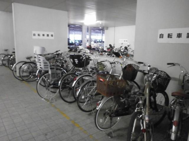 宇治市役所自転車置き場