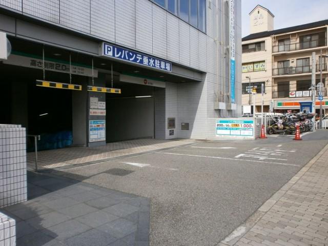 垂水区役所 レバンテ垂水駐車場入り口