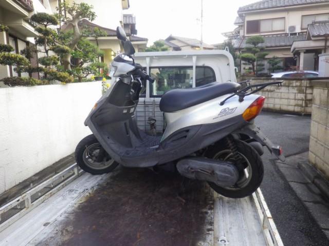 神戸市内で廃車したバイクの画像