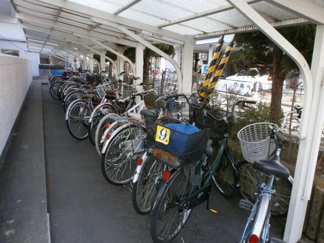 西京区役所駐輪場